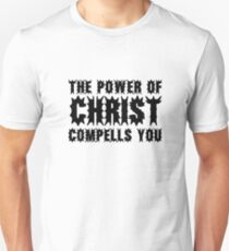 The Power Of Christ Compells You Exorcist Quote Horror Scary T-Shirt