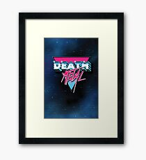 Death Metal 80s Logo Framed Print