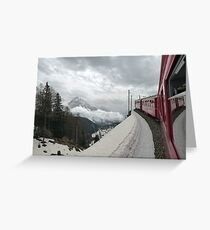 The Bernina Train Greeting Card