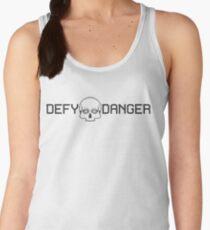 Defy Danger Logo - White Women's Tank Top