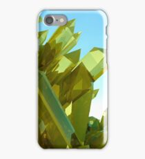 3d Yellow Crystals iPhone Case/Skin