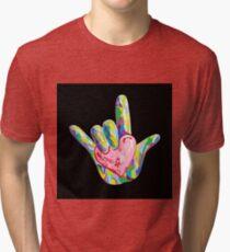 ASL - I HEART YOU! Tri-blend T-Shirt