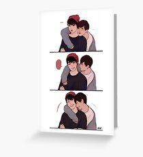 Taekook triptych Greeting Card