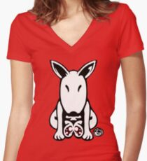 English Bull Terrier Tee  Women's Fitted V-Neck T-Shirt