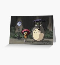 Totoro - Waiting for the Catbus Greeting Card