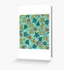 Alpine-Columbine bloom Pattern Greeting Card
