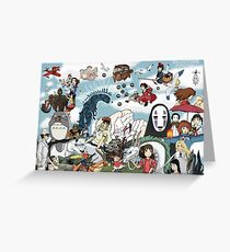 Studio Ghibli Tribute Greeting Card