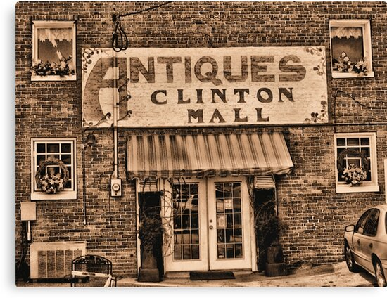 """""""Antiques, Clinton Mall,  #3""""... prints and products by Bob Hall©"""