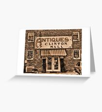 """""""Antiques, Clinton Mall,  #3""""... prints and products Greeting Card"""