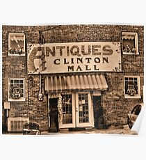 """""""Antiques, Clinton Mall,  #3""""... prints and products Poster"""