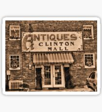 """Antiques, Clinton Mall,  #3""... prints and products Sticker"