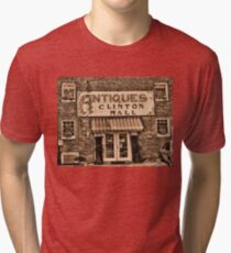 """""""Antiques, Clinton Mall,  #3""""... prints and products Tri-blend T-Shirt"""