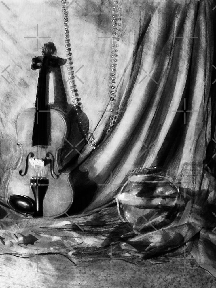 Violin Still Life by SaradaBoru