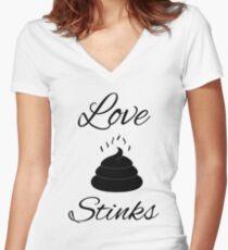 Love Stinks Women's Fitted V-Neck T-Shirt