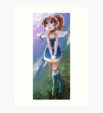 Cute Angel Girl Art Print