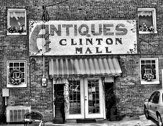 """Antiques, Clinton Mall, #2""... prints and products by © Bob Hall"