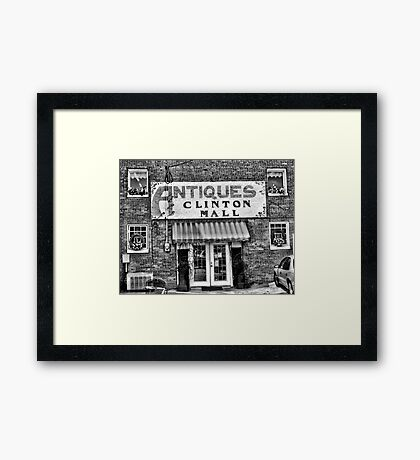 """""""Antiques, Clinton Mall, #2""""... prints and products Framed Print"""