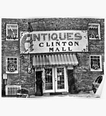 """""""Antiques, Clinton Mall, #2""""... prints and products Poster"""