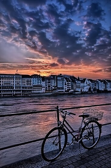 A Sunset Cycle by The Rhine  by CarolJapp