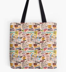 Coney Island Food Sign Pattern - Pink Tote Bag