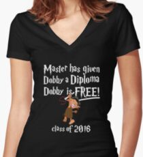 Dobby Graduation 2016 Women's Fitted V-Neck T-Shirt