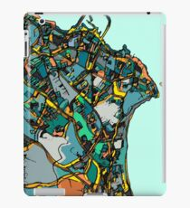 Abstract Map of Dun Laoghaire, Ireland iPad Case/Skin