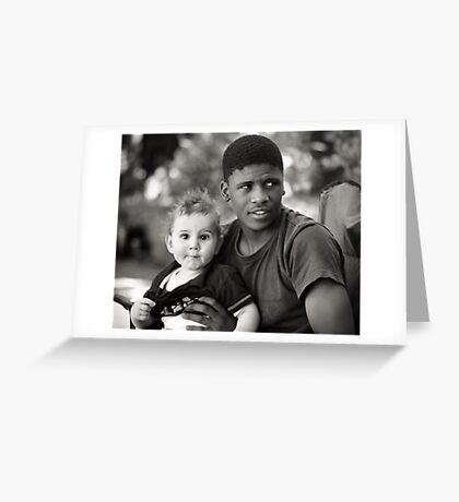 John and Levi, best brothers forever.  Greeting Card