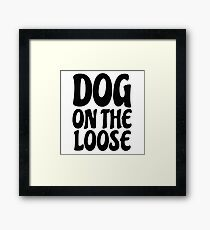 Funny Dog Sex Joke Humour Comedy Player Mens Humour Framed Print