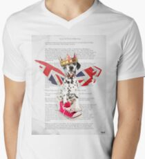 Phileas Fogg dog collage chapter one Men's V-Neck T-Shirt