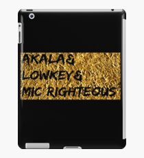 Akala & Lowkey & Mic Righteous UK music (T-shirt, Phone Case & more) iPad Case/Skin