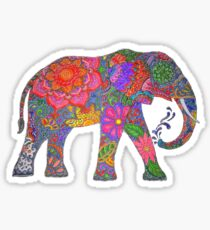 Psychedelic Elephant Sticker