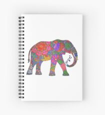 Psychedelic Elephant Spiral Notebook