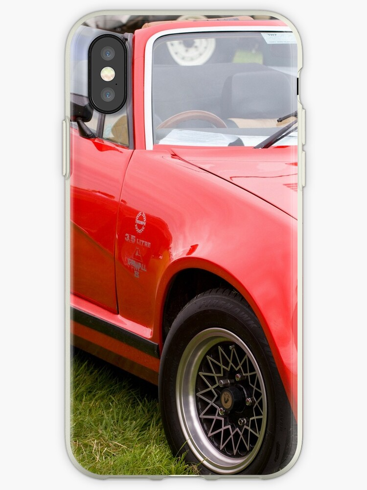 Triumph Tr7 35 V8 Grinnall Iphone Cases Covers By Martyn