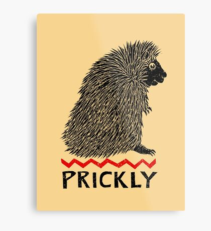 Prickly Porcupine Metal Print