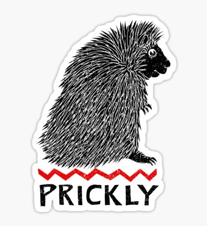 Prickly Porcupine Sticker
