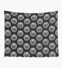 Vector Basketball Halftone Wall Tapestry