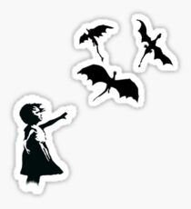 Banksy's Girl With a Balloon/Dragon Sticker