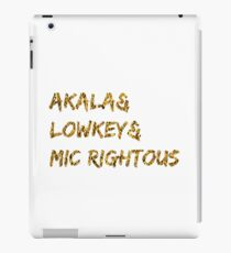 Akala & Lowkey & Mic Righteous White Gold (T-shirt, Phone Case & more) iPad Case/Skin