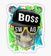 Triangle Swag Skull Sticker