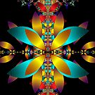 Fractal Floral Pattern - Digital Blanket by LjMaxx