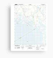 USGS TOPO Map New Jersey NJ Heislerville 20110428 TM Metal Print