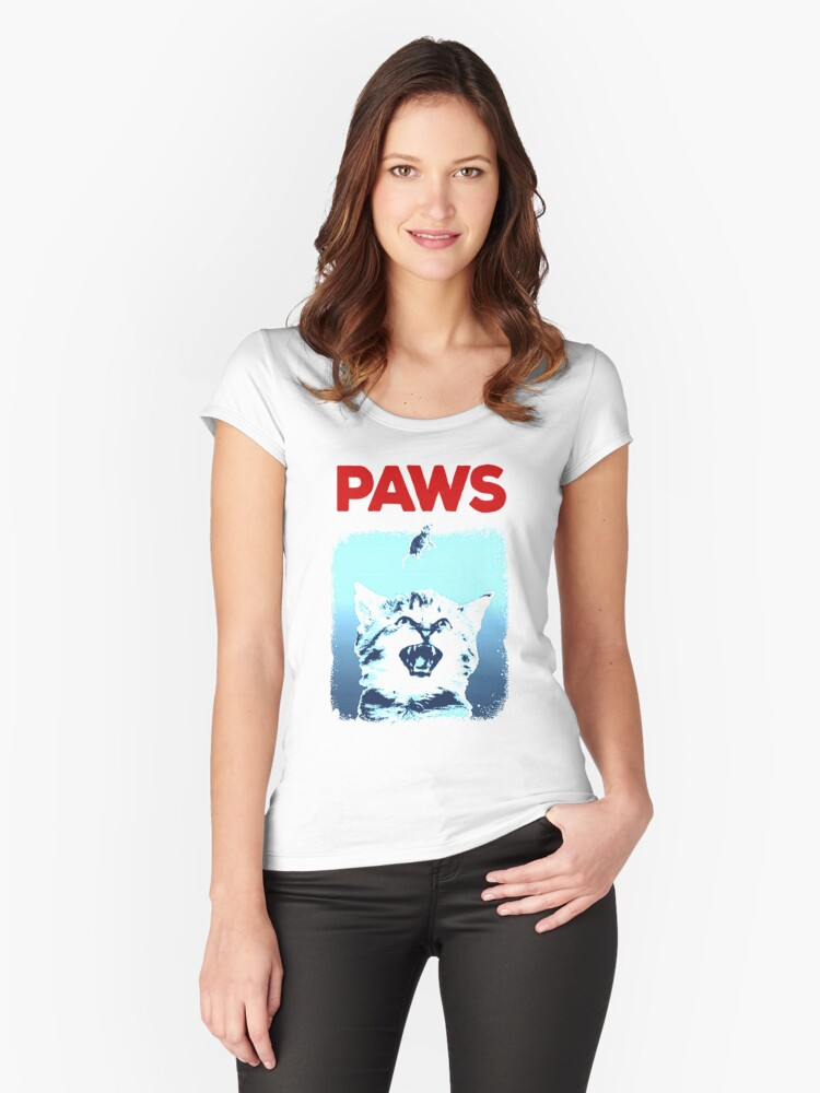 Kitty Jaws Women's Fitted Scoop T-Shirt Front