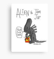 Alien Vs Jam Jar Metal Print