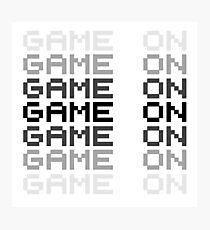 Game On Gaming Geek Video Games PC Playstatopn XBox Photographic Print