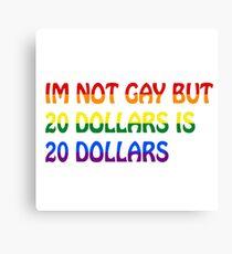 Funny Gay Humour Comedy Joke  Canvas Print