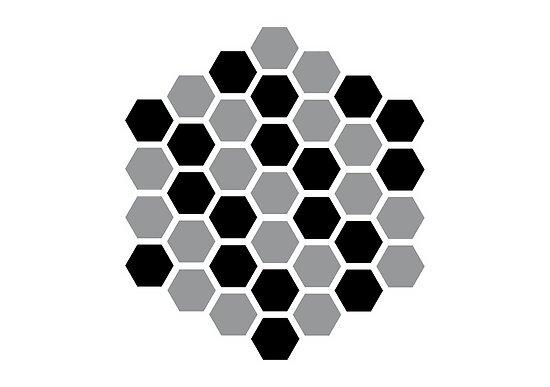 optics: hexagon, honeycomb by razvandrc