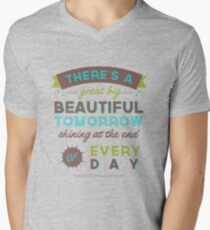 Beautiful Tomorrow (For light backgrounds) Men's V-Neck T-Shirt