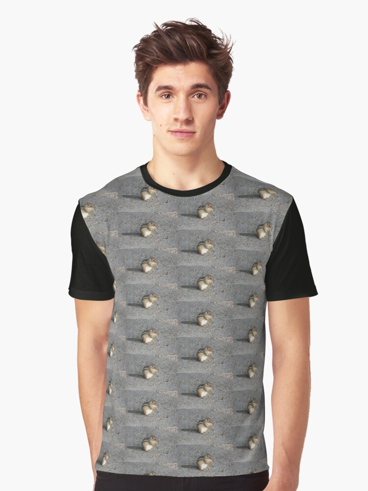 Chipmunk Graphic T-Shirt Front