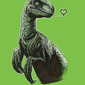 Raptor Kisses by buggybear