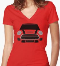 Red italian Job Women's Fitted V-Neck T-Shirt